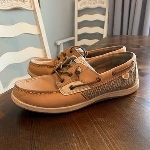 Sperry Top Sider with memory foam.
